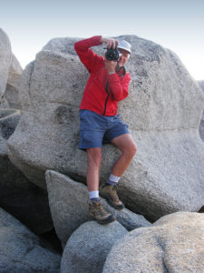 Tim Carter shooting on the shore of Lake Tahoe